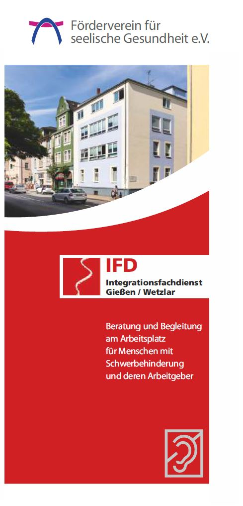 Flyer IFD Integrationsfachdienst Foederverein Giessen 2020